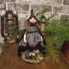 Handmade Art Doll - Handmade Doll - Artistic Doll - Handmade - Doll - Collectible - Witch - OOAK Doll - Witch Doll - Miniature - Witchy by Rustiikkitupa on Etsy