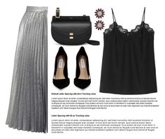 """""""OOTD - Pleated Skirt"""" by by-jwp ❤ liked on Polyvore featuring Miss Selfridge, Miu Miu, Steve Madden, StreetStyle, fashionset, StreetChic and streetoutfit"""