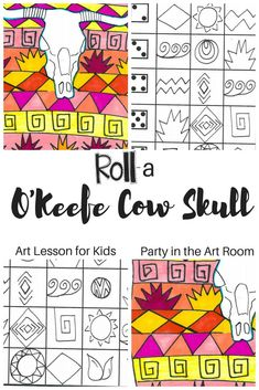 Art games for kids are a great way to incorporate learning and fun in the classroom. Grab these art lessons for kids and incorporate the O'Keefe cow skull into your lessons. Kindergarten Art Lessons, Art Education Lessons, Art Lessons Elementary, Art Games For Kids, Art Lessons For Kids, Drawing Games For Kids, Fun Games, Art Sub Plans, Art Lesson Plans