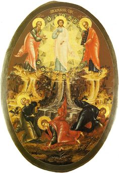 The Transfiguration icon 17 c. Religious Symbols, Religious Art, Anima Christi, The Transfiguration, Planets And Moons, Religious Paintings, Christian Religions, Byzantine Icons, Russian Orthodox
