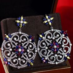 Zircon Earring JHZ-417 USD59.48, Click photo for shopping guide and discount