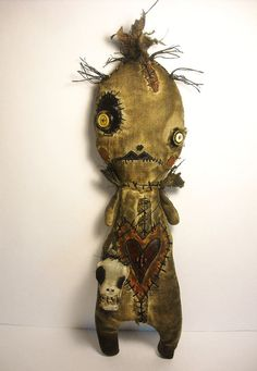 Handmade Art Doll Voodoo Simbi  by JunkerJane on Etsy