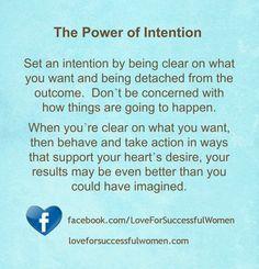 The Power of Intention #lawofattraction #successwithkurt #kurttasche