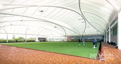 LTWSAS Light Weight Structures, Widespan, East Cessnock Bowls Club, Crescent configuration, beautiful fabric architecture, tensile membrane
