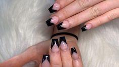 Nail Art Designs Videos, Cute Nail Art Designs, Halloween Nail Designs, Acrylic Nail Designs, Baby Pink Nails, Purple Nails, Color Nails, Black Coffin Nails, White Acrylic Nails