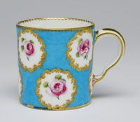 Cup Made in Sèvres, France, Europe 1773-74 Made by the Sèvres porcelain factory, Sèvres, France, 1756 - present. Decorated by Antoine-Joseph Chappuis,, French, c. 1743 - 1787, and Denis Levé,, French, 1730 - 1816, and Chauvaux, French. Soft-paste porcelain with enamel and gilt decoration