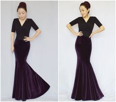 Free Shipping 2016 New Fashion Long Floor Length Spring And Winter Fish Tail Women Skirt Vintage Velvet Elegant Slim Hip Skirts-inSkirts from Women's Clothing & Accessories on Aliexpress.com | Alibaba Group