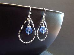 Light blue Swarovski teardrop earrings by TheClassyJewelryBox