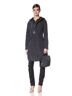 55% OFF Dawn Levy Women\'s Michelle Raincoat with Hood (Abyss)
