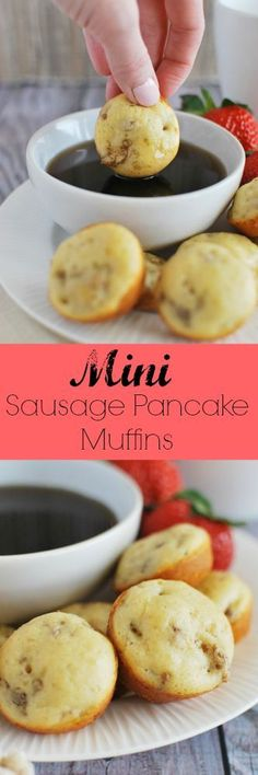 Mini Sausage Pancake Muffins these muffins are like tiny handheld pancakes! T Mini Sausage Pancake Muffins these muffins are like tiny handheld pancakes! The whole family will love these! Source by foodnessg Pancake Muffins, Breakfast Pancakes, Breakfast Dishes, Best Breakfast, Breakfast Recipes, Mini Muffins, Mini Pancakes, Breakfast Potatoes, Breakfast Bake