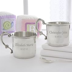 $36.95  Personalized Heirloom Pewter Baby Cup - 6884