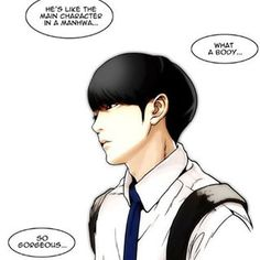 I don't usually recommend manhwa but the latest chapters of Lookism made me angry, upset, happy and forever grateful for the existence of the most greatest character I have ever seen in a webtoon (no not the guy in this picture). I won't spoil, but he is the bravest - Hyung Suk from Lookism in this picture, he is the main character.