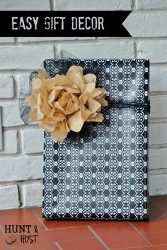 vintage sewing patterns make cute gift wrap plus an extra gift on your gift. www.huntandhost.com