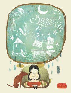 Ilustración para biblioteca