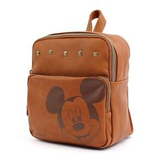 7a0b18f2455b Disney Mickey Mouse Joy Backpack Kids Toddler Bag Leather Brown Licensed  GKWH028  Disney 디즈니 미키