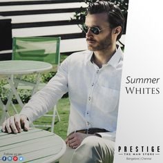Fresh, chic & cool - Whites are the way to go this #Summer! Don't restrict yourself to white shirts, instead, go for white trousers, blazers, t-shirts and more!
