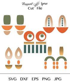 Diy Earrings, Leather Earrings, Polymer Clay Earrings, Earrings Handmade, Clay Jewelry, Jewelry Crafts, African Earrings, Earring Tutorial, Vinyl Crafts