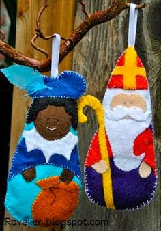 Ravelien: DIY- Sinterklaas en Zwarte Piet Vilt Patroon (Pattern included)