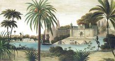 Paysages colorés - Varanasi couleur L465xH250 - ultra mat - 5 lés de 93cm