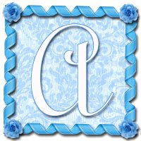"GRANNY ENCHANTED'S BLOG: ""Blue Curly Ribbon"" PNG Free Scrapbook Alphabet"
