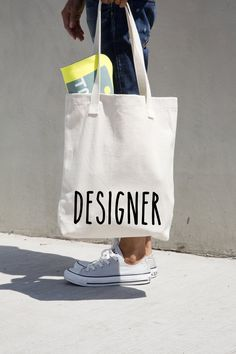 Designer tote cotton bag personalized American by MONOFACES, €17.00