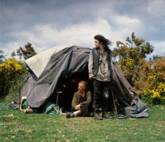 The New Gypsies by Iain McKell: A couple sharing a battered old makeshift tent deep in the English countryside