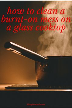 I need to remember this the next time I burn food on my glass cooktop!! This is such an easy cleaning hack.