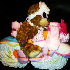 My Diaper Motorcycle for Angela's Baby Shower <3 Turned out much better than I thought it would!