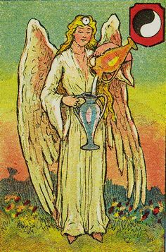 Temperance - Knapp-Hall Tarot by J. A. Knapp