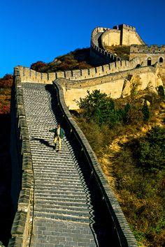 The Great Wall of China at Badaling, China I bought a T shirt 'I Climbed the Great Wall of China'!