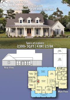 26 Amazing Modern Farmhouse Plans Design Ideas And Remodel. If you are looking for Modern Farmhouse Plans Design Ideas And Remodel, You come to the right place. Below are the Modern Farmhouse Plans D. 4 Bedroom House Plans, New House Plans, Dream House Plans, Dream Houses, One Level House Plans, 2200 Sq Ft House Plans, Home Plans, Ranch House Plans, The Plan