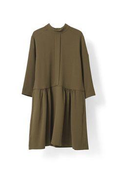 Clark Dress, Dark Olive