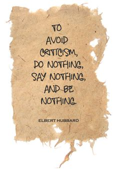 To avoid criticism... #quotes