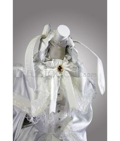 Vocaloid Miku Hatsune White Rabbit Dress Cosplay Costume