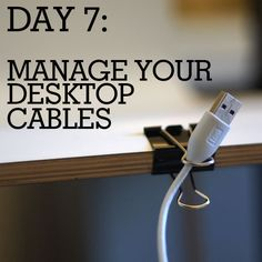 How to manage desktop cables