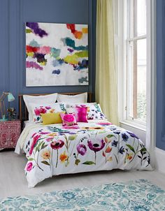 SO in love with this bedding and it would work so well with my bed! Flower Field Meadow Floral Duvet Set | Hudson's Bay