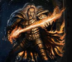 Warrior shaman Lemminkäinen with his fiery sword and fiery fur is one of the main characters in the Finnish epic Kalevala, fighting fiery eagles, g. Warm And Cold Colours, Predator, Witchcraft, Cyberpunk, Really Cool Stuff, Mythology, Sci Fi, Horror, Deviantart