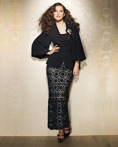Crochet Sobresaliente: Spiegel. Crochet maxi falda negro. Otros trajes, hechos con el mismo patrón.