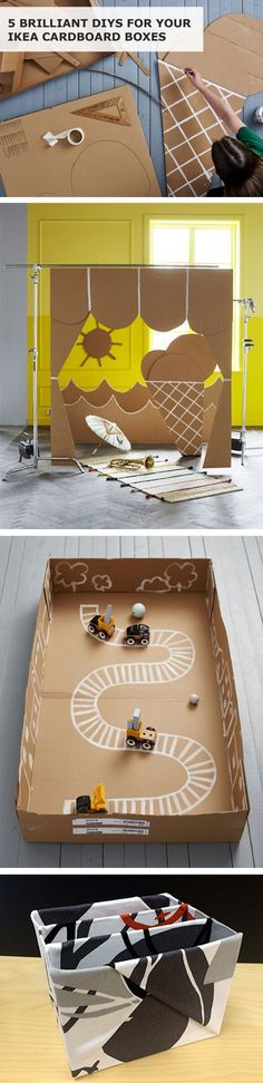 IKEA stores are a cardboard box seekers' paradise, as most IKEA furniture comes in flat-packed boxes. Here's how you can release your inner child (and help the environment too!) with these brilliant DIYs for your IKEA cardboard boxes.