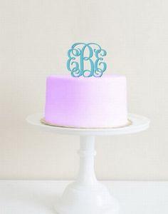 Custom Acrylic Monogram Cake Topper...my actual dream come true