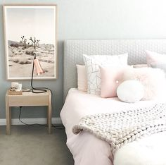 Our blush button cushion in the home of /designdevotee/