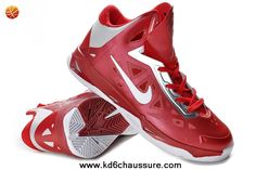 newest 90f7a 13026 Cheap Nike Zoom Hyperchaos Mens Basketball Shoes Gym Red White Metallic  Silver 535272 600 For Wholesale