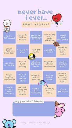 Bts Quiz Game, Game Bts, Bts Lyrics Quotes, Bts Qoutes, Bingo Template, Templates, Bts Book, Instagram Story Questions, Bts Playlist
