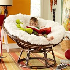Need to buy a white/gray cover for our papasan chair cushion for in master!