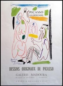 Original Künstlerplakat Picasso Original artist poster Picasso Affiche originale Picasso title Original drawings by Picasso technology Letterpress printing in 13 colors Pablo Picasso, Antibes, Cannes, Exhibition Poster, Letterpress Printing, Find Art, Illustration Art, Lettering, Poster