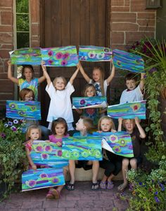 Art project - make a Monet-inspired waterlily painting with tissue paper