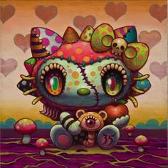 Odd and cool Hello Kitty Art