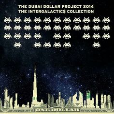 Back in March 2014 the second @dollarsandart exhibition 'INTERGALACTIC$' invaded Dubai as 28 space inspired originals landed @MediaOneHotel- some sold, some showcased elsewhere others still for sale and  they'll be showcased here on insta along with behind the scenes stuff during April as Art tells a story 💫🎨 #art intergalactics collection #2014 #space #invaders #painting #print #canvas #acrylic  #heart #superman #golf #colourful #composition  #rare #spaceman #intergalactics #onedollarbill