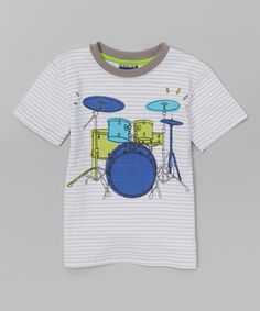 This Ash Gray Stripe Drum Set Tee - Infant & Toddler by CR Sport is perfect! #zulilyfinds