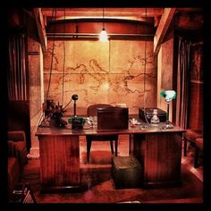 Churchill's desk at the Churchill War Rooms